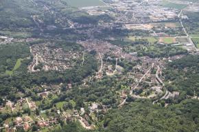 Vue de la ville en hauteur